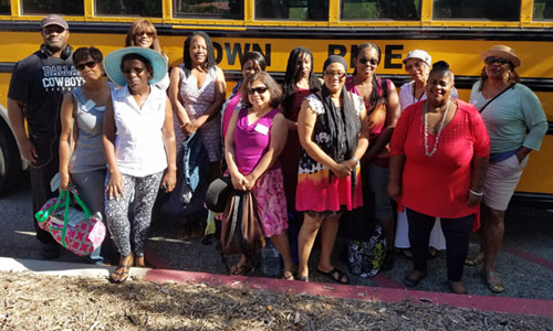 Parent outing to Glen Ivy on bus provided by Herb Wessons office 8/13/17
